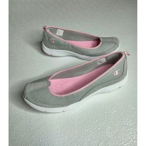Champion Gray and Pink Slip-on Shoes Size 9 NWT